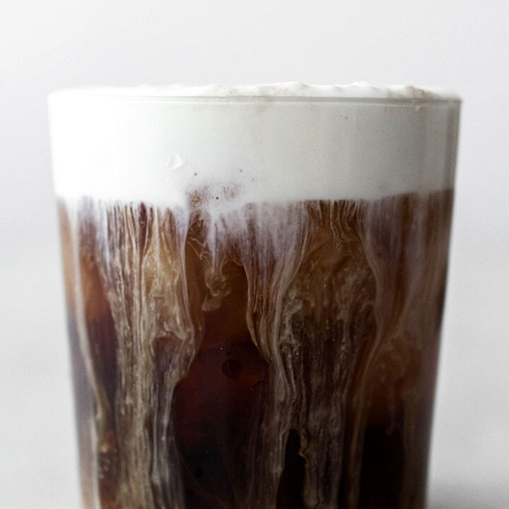 Decadent Iced Coffee with Cream Froth