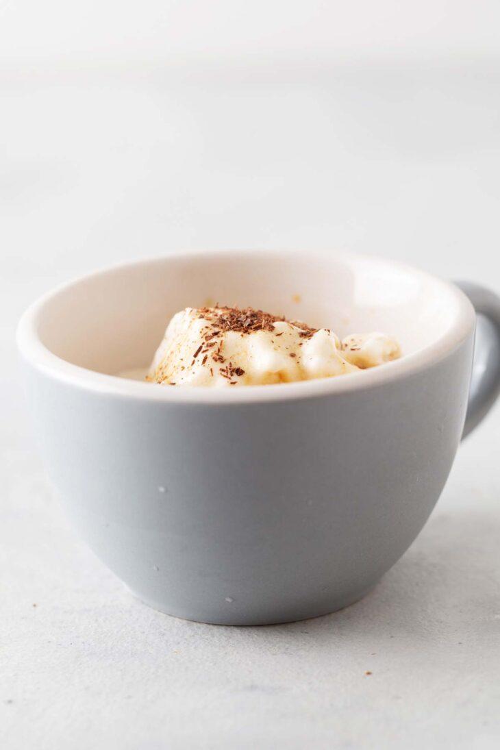 Affogato in a small mug.