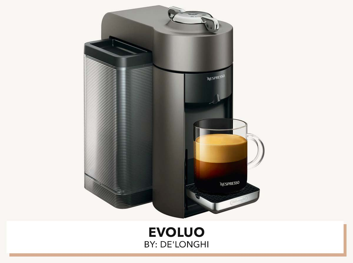 Nespresso Evoluo machine by De'Longhi.