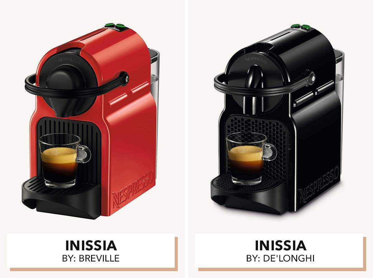 Two photos of Inissia Nespresso machines side by side.