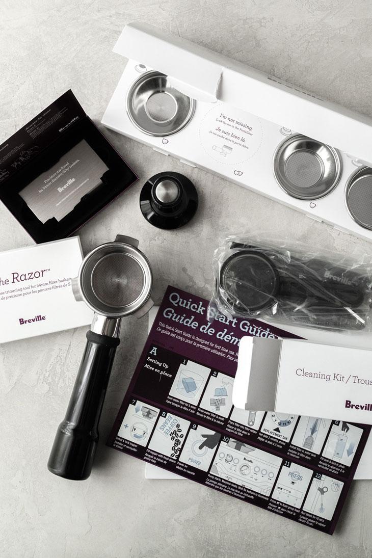 Breville Barista Express Espresso machine parts.
