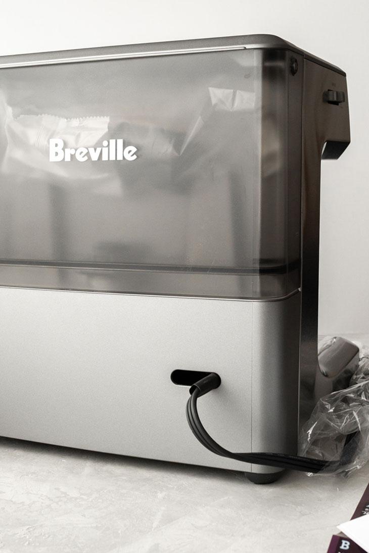 Setting up a new Breville Barista Express espresso machine.