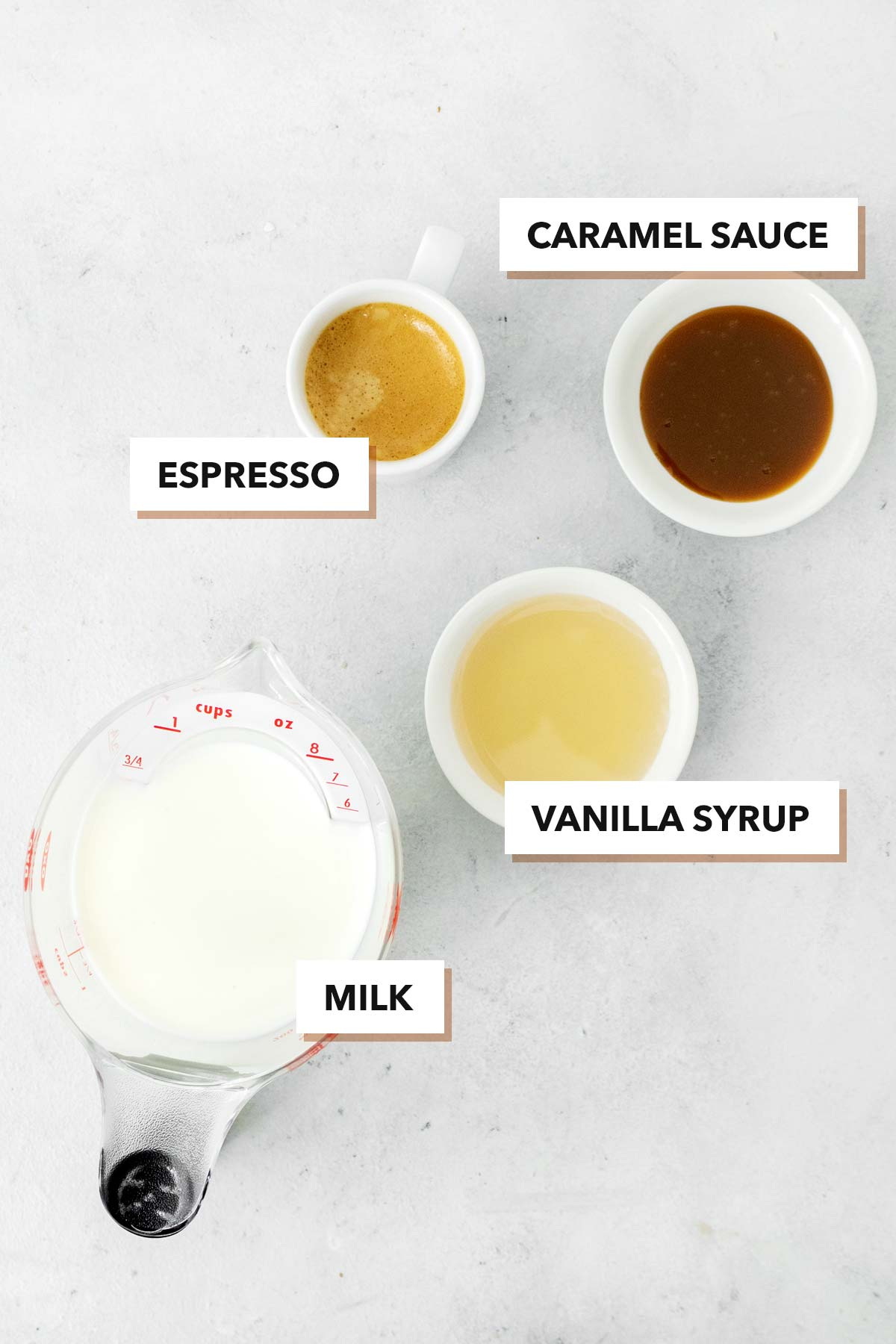 Starbucks Caramel Macchiato copycat ingredients.