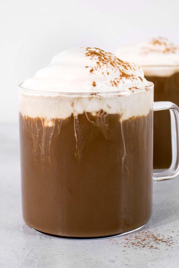 Cinnamon Dolce Latte in 2 mugs.