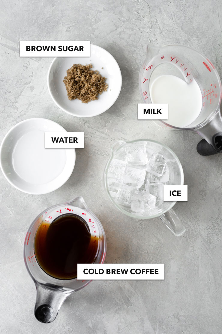 Cold brew coffee latte ingredients