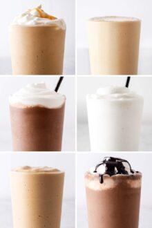 10 Frappuccino Recipes + Frappuccino Base Syrup Recipe
