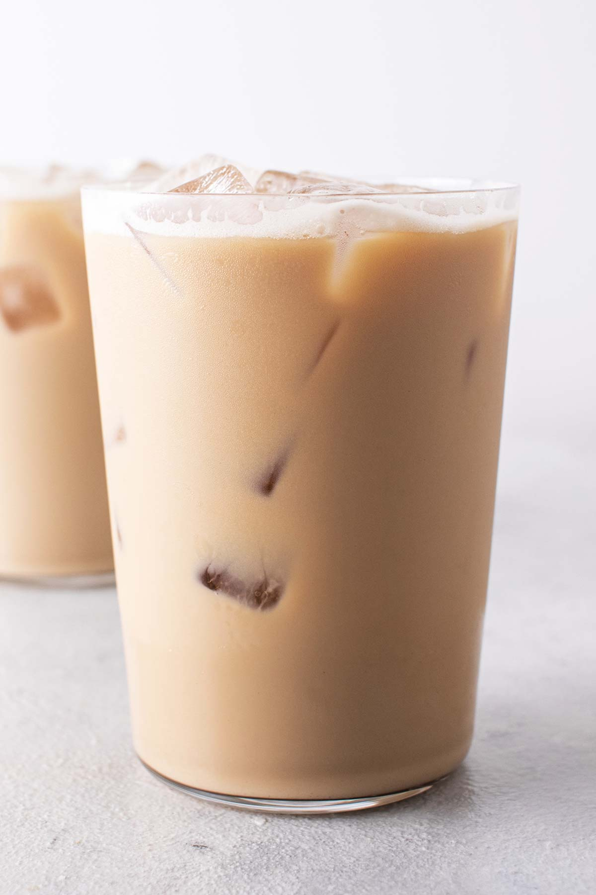 Iced Blonde Vanilla Latte in tall cups.