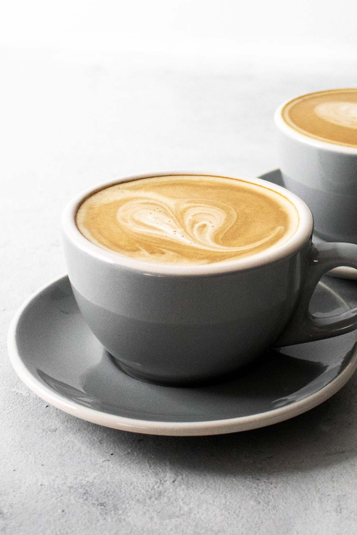 Two cups with latte.