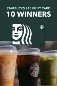 Starbucks Coffee $10 eGift Card Giveaway