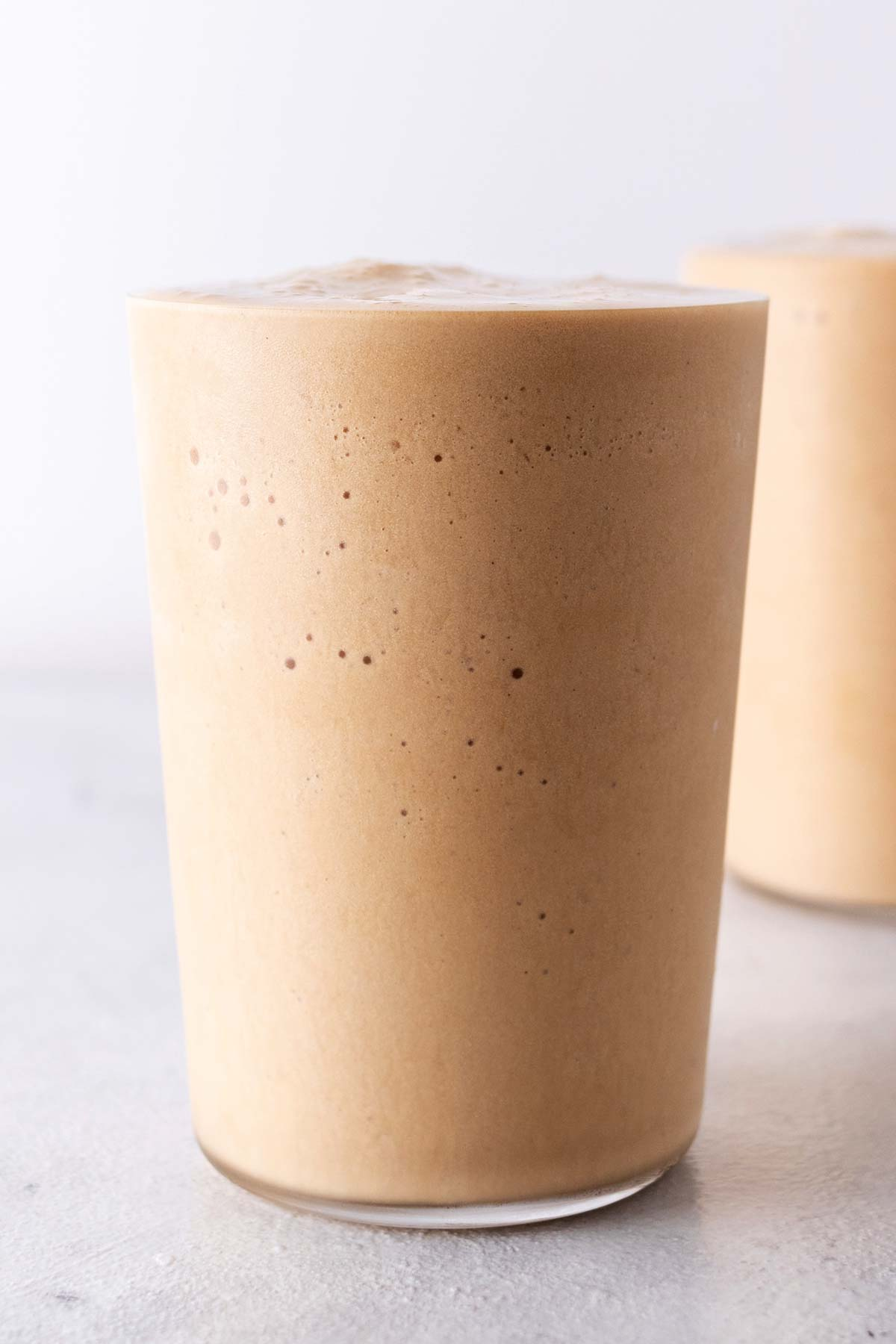 Coffee Frappuccinos in cups.