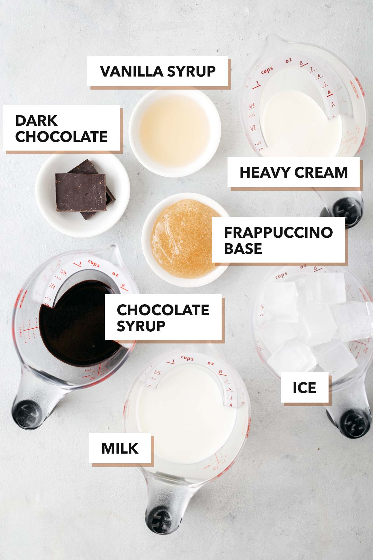 Double Chocolaty Chip Frappuccino ingredients.