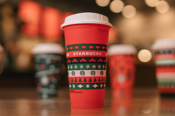 Starbucks red cup.