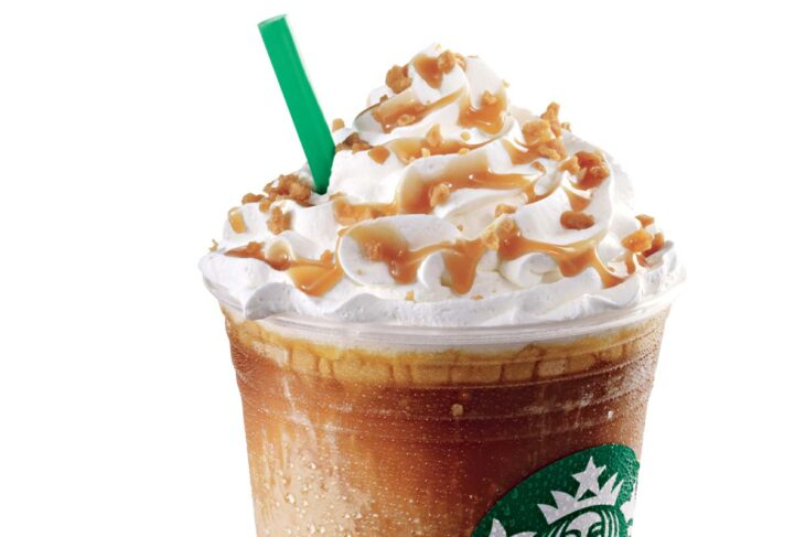 Starbucks Frappuccino with whipped cream.