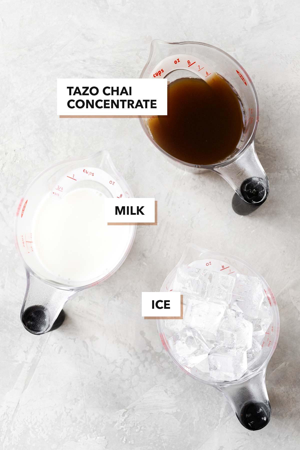Starbucks Iced Chai Tea Latte Copycat ingredients.