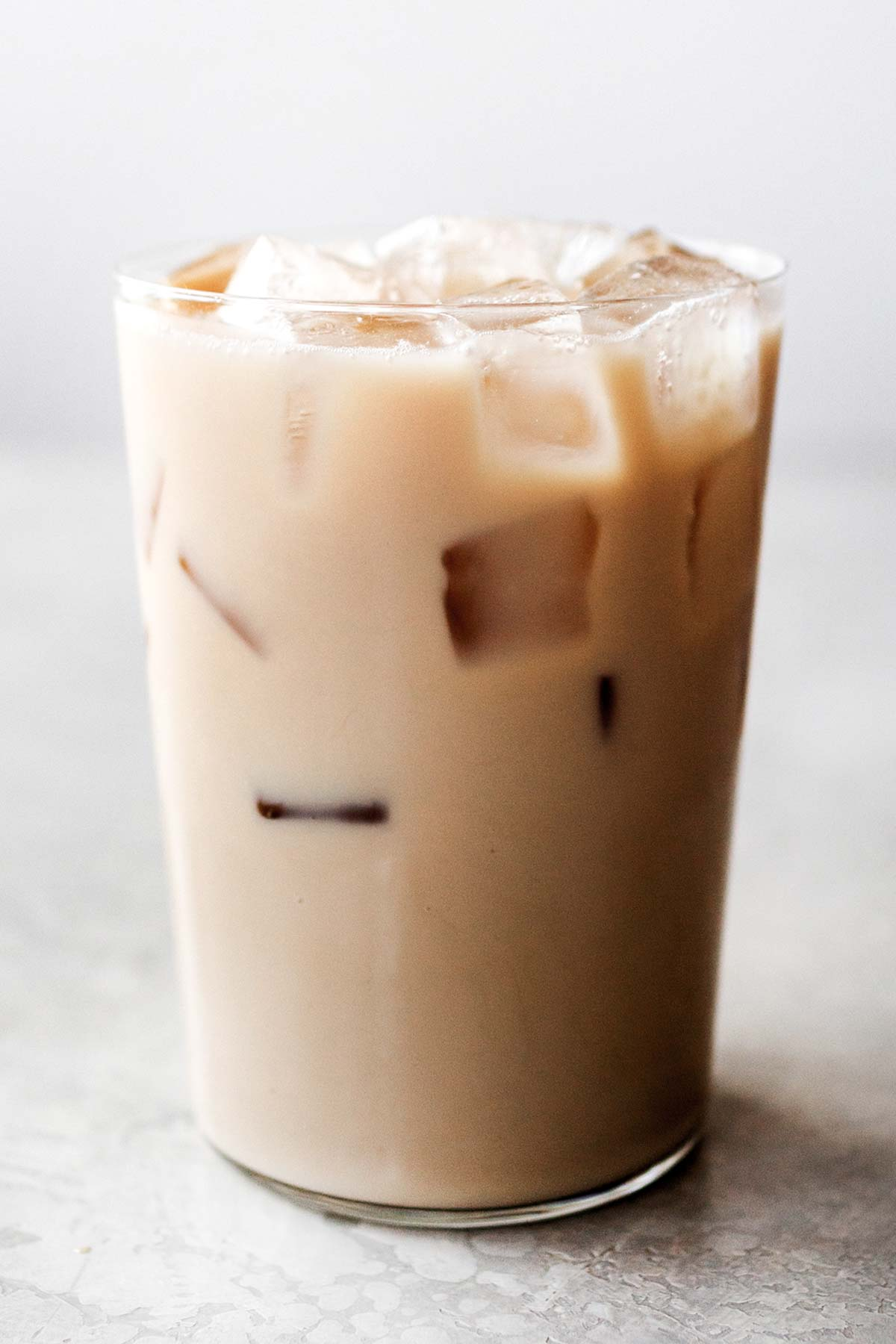 Starbucks Iced Chai Tea Latte copycat drink in a cup.