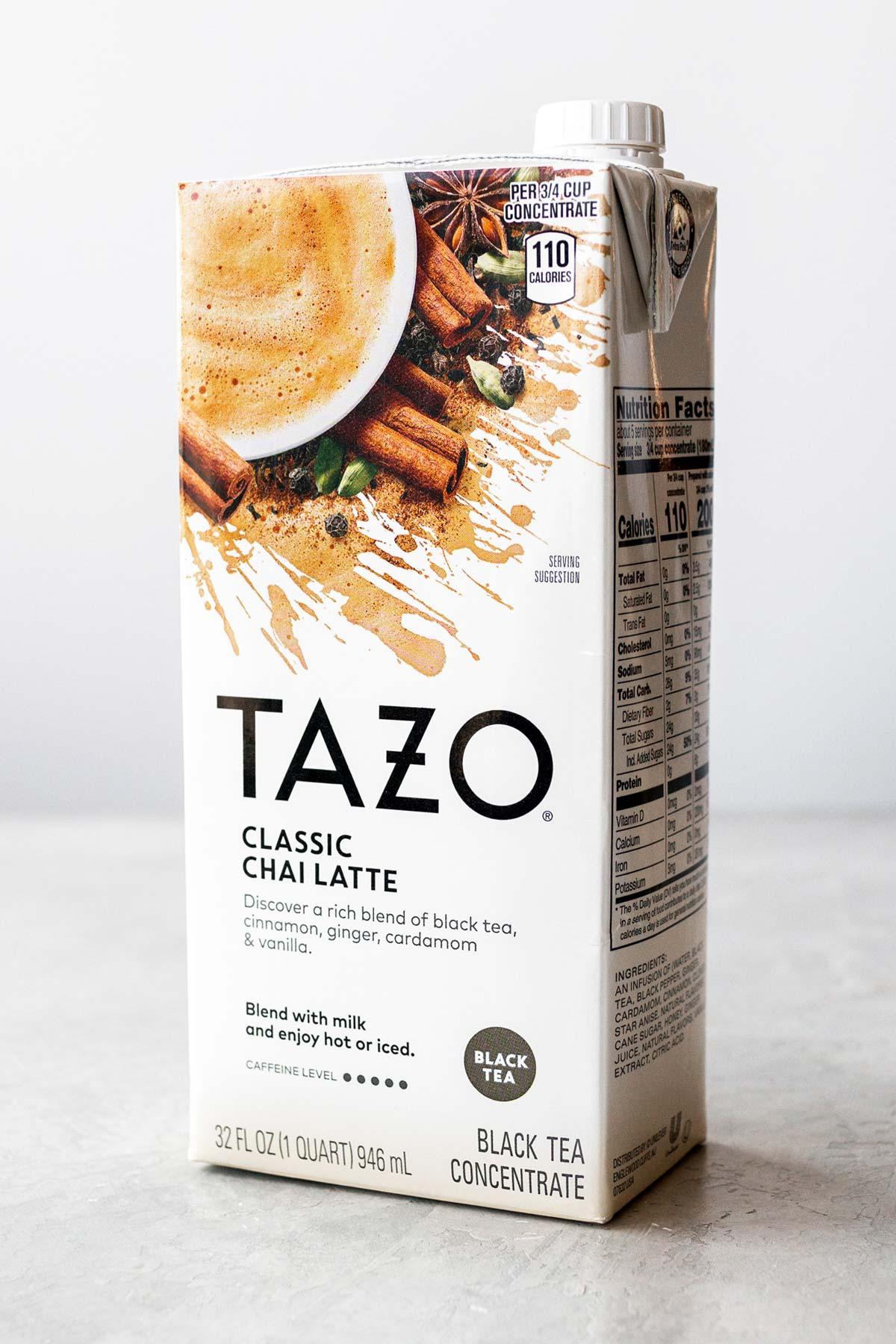 Tazo Classic Chai Latte box.