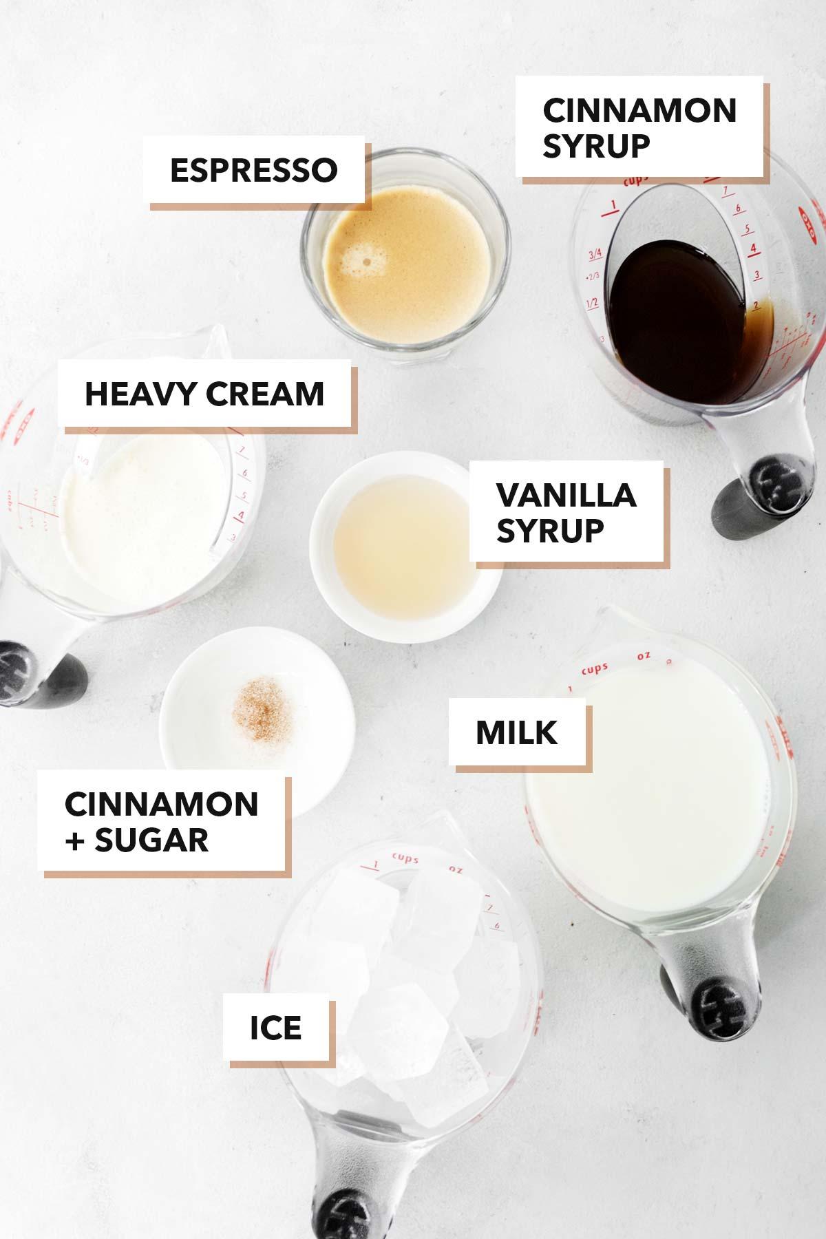 Starbucks Iced Cinnamon Dolce Latte copycat ingredients.