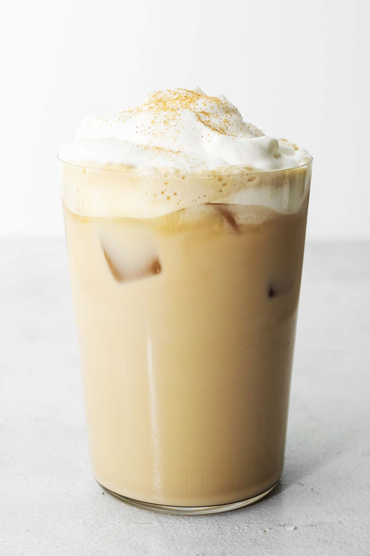 Starbucks Iced Cinnamon Dolce Latte copycat drink in a cup.