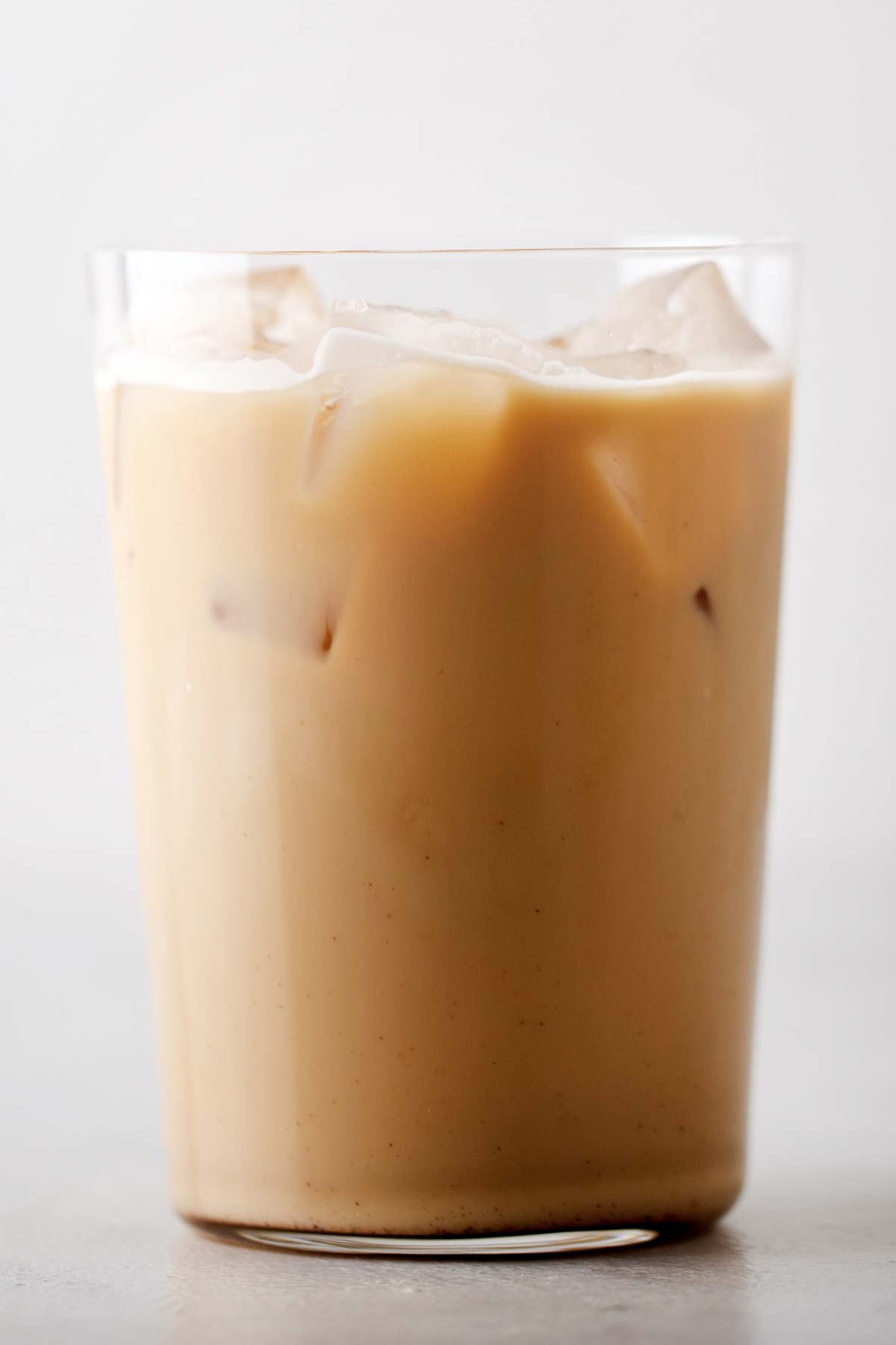 Iced Pumpkin Spice Latte in a cup.