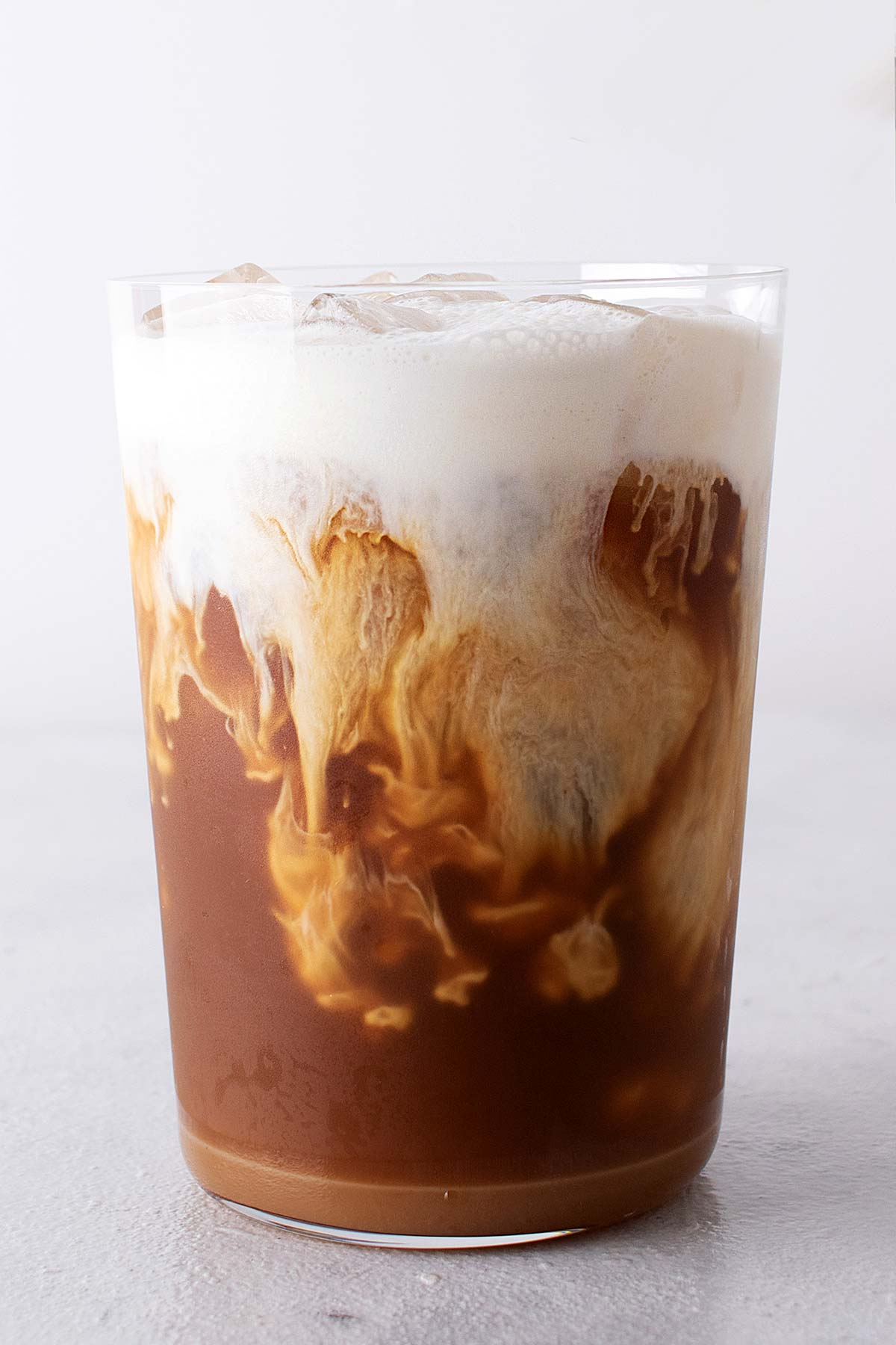 Starbucks Salted Caramel Cream Cold Brew copycat recipe in a cup with cold foam.