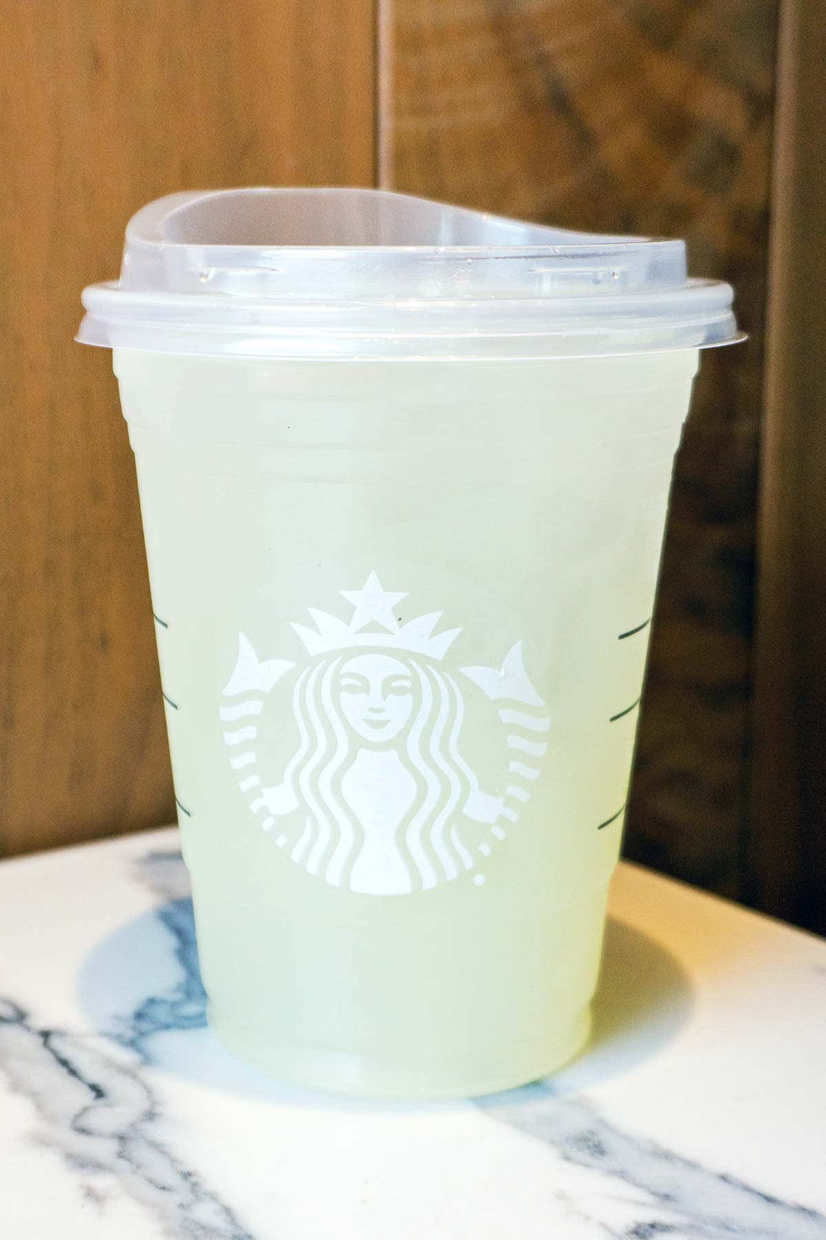 Starbucks Gummy Bear Drink in a cup.