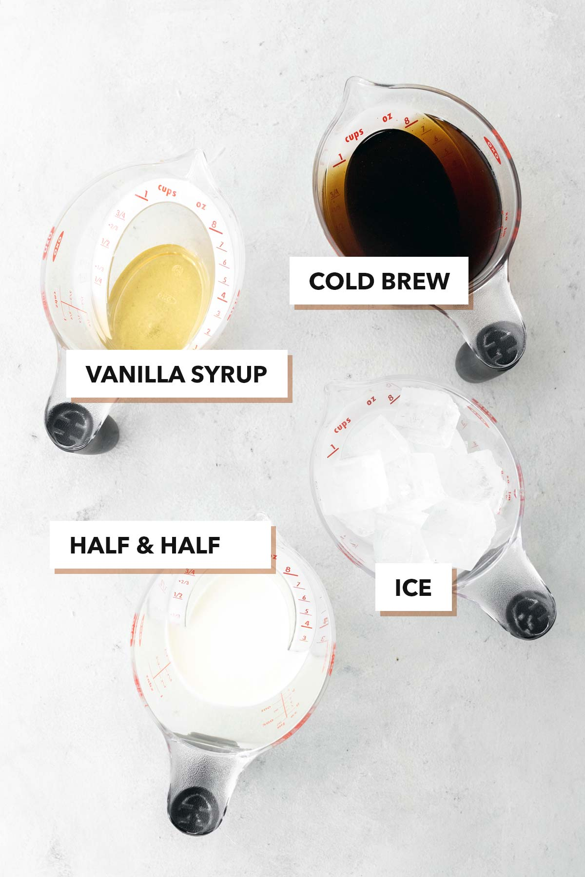 Starbucks Vanilla Sweet Cream Cold Brew Copycat ingredients.