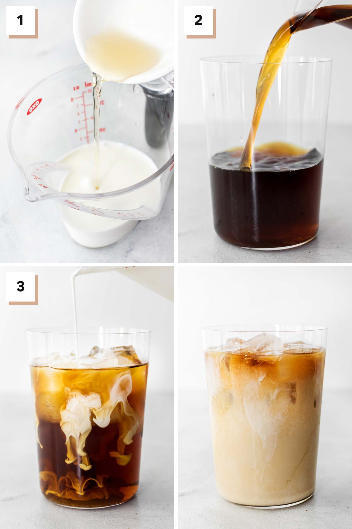 Steps to make Starbucks Vanilla Sweet Cream Cold Brew Copycat at home.