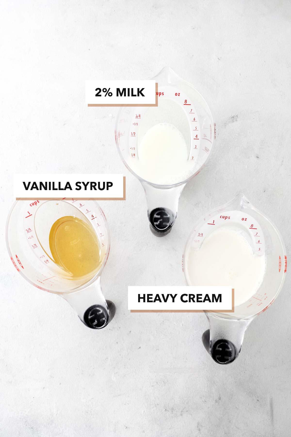 Starbucks Vanilla Sweet Cream Cold Foam copycat recipe ingredients.